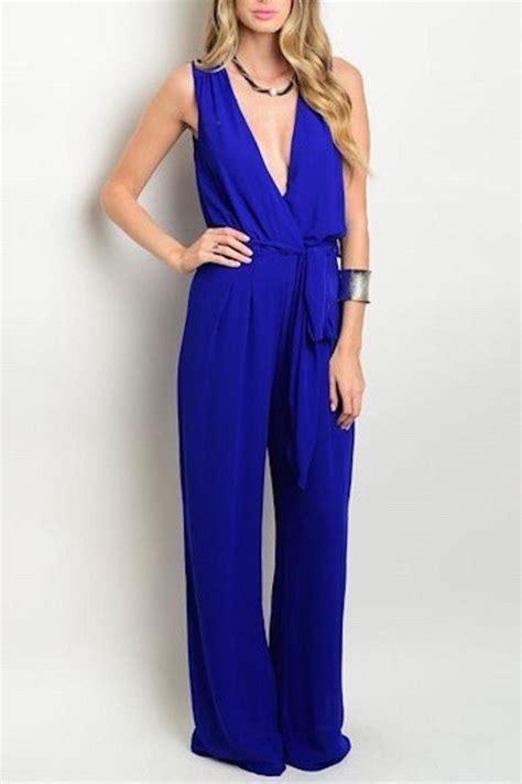 Jumpsuit Blue electric blue jumpsuit from montclair by atelier shoptiques
