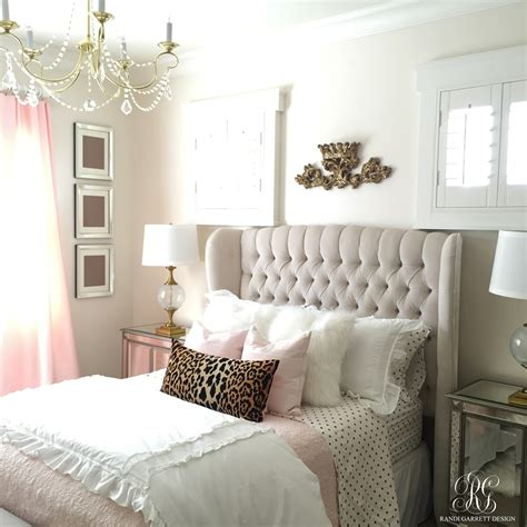 gray and gold bedroom pink and gold girl s bedroom makeover randi garrett design