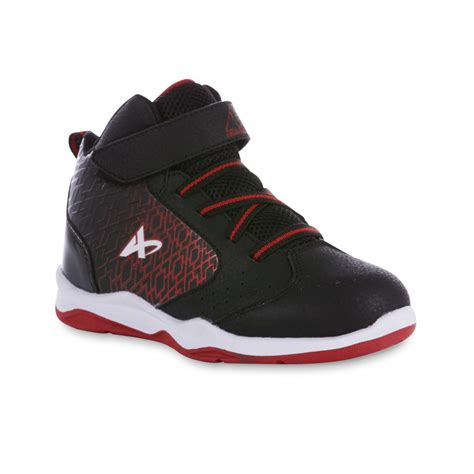 kmart basketball shoes athletech boy s cipher high top black basketball shoe