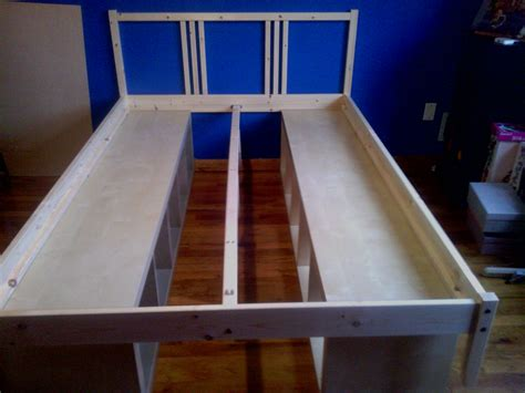 Bookshelf Bed Frame Diy Diy Storage Bed Diy What Works And What Doesn T As Told By A College Student