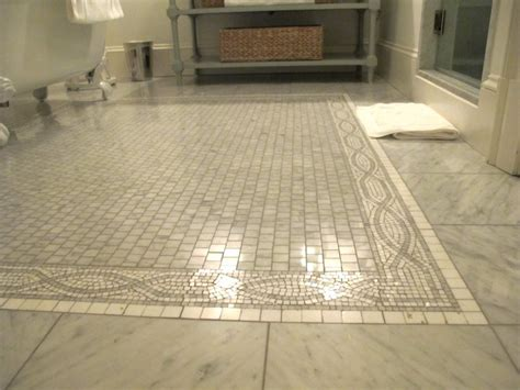 Marble Tile Bathroom Floor Mosaic Marble Floor Design Ideas