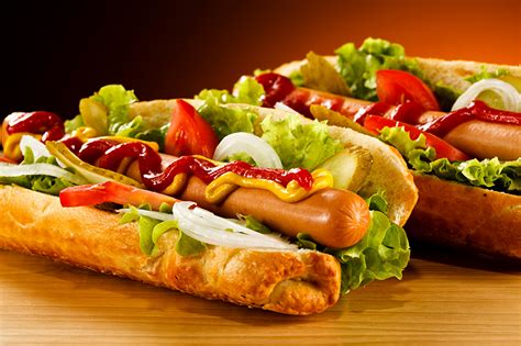 Picture Hot dog Ketchup Fast food Vienna sausage Food