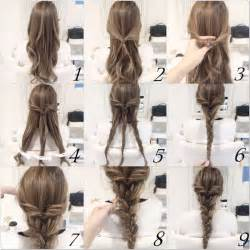 hair braiding styles step by step easy step by step hairstyles for medium hair