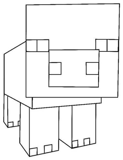 coloring book tutorial how to draw pig from minecraft with easy step by step