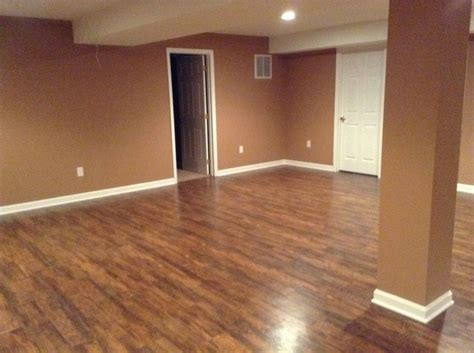 Vinyl Flooring For Basement Remodeled Basement Vinyl Flooring My Western Home To Be Pinter