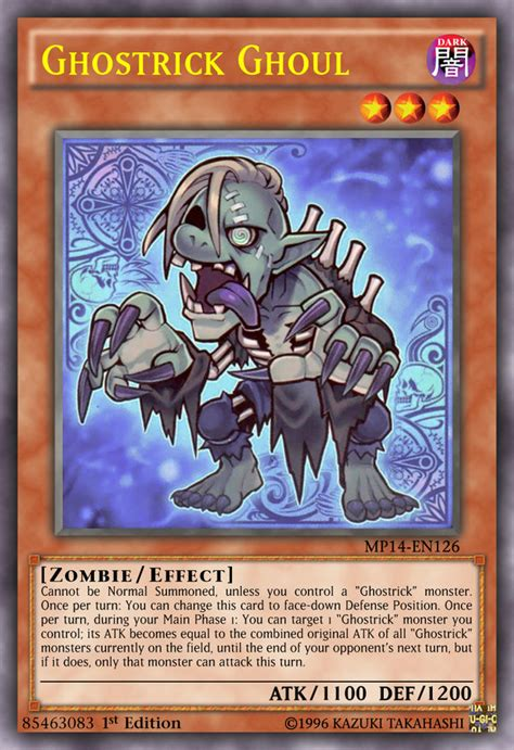 Ghostrick Ghoul Mp14 En126 1st Edition ghostrick ghoul by kai1411 on deviantart