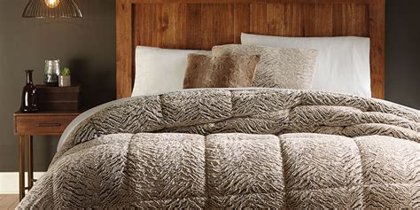 Fur Comforters by Cannon Faux Fur Comforter Brown