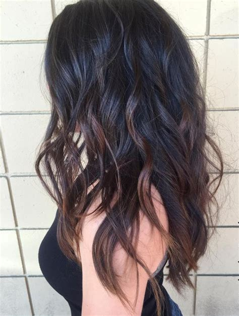 Black And Brown Hairstyles by Wavy Black Layered Hairstyles 2017 With Chocolate