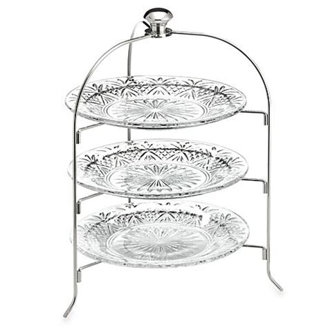 bed bath and beyond dublin godinger dublin crystal 3 tier serving rack 21 quot tall