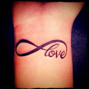 Infinity With Words Infinity On Wrist Tattoos