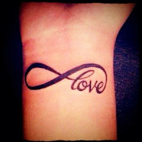 the word love tattoo designs infinity on wrist tattoos