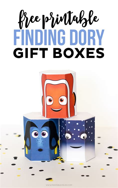 Finding For Free Free Finding Dory Printable Gift Boxes Printable Crush