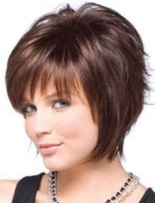 Best short layered hairstyles for round faces dark brown hairs