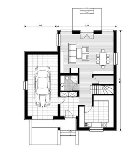 house plan with attic small attic house plans
