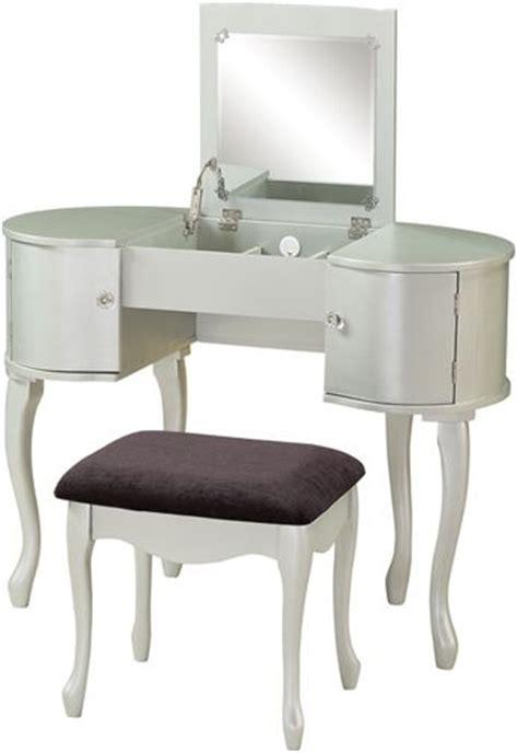 Side Storage Vanity Set by Linon 580425sil01u Vanity Set Glamorous In Its