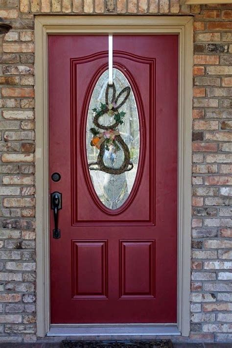 What Front Door Color Goes With Light Brick Exterior House Front Door And Shutter Colors