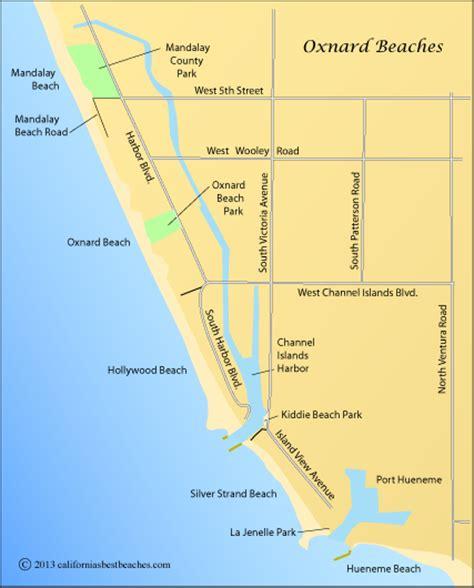 california map oxnard oxnard beaches california s best beaches