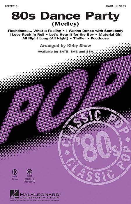 80s dance party music 80s dance party sheet music by kirby shaw sku hl 8202310