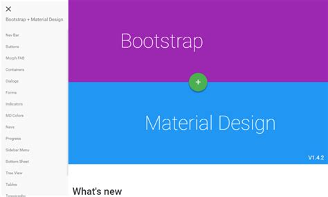 Bootstrap Material Design Layout | 5 material design web frameworks you should know about