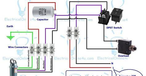 single phase submersible starter diagram single phase submersible starter wiring diagram