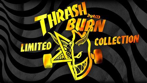 Kaos Murah Thrasher Font Burn spitfire x thrasher thrash and burn collection now available the grind a tactics
