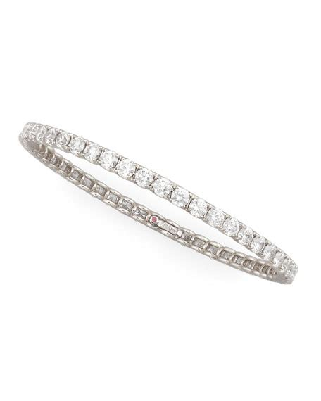 Ruby 11 5ct roberto coin 64mm white gold eternity bangle 11 5ct