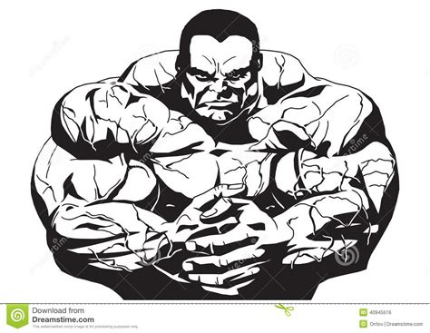 muscular bodybuilder stock vector image 40945516