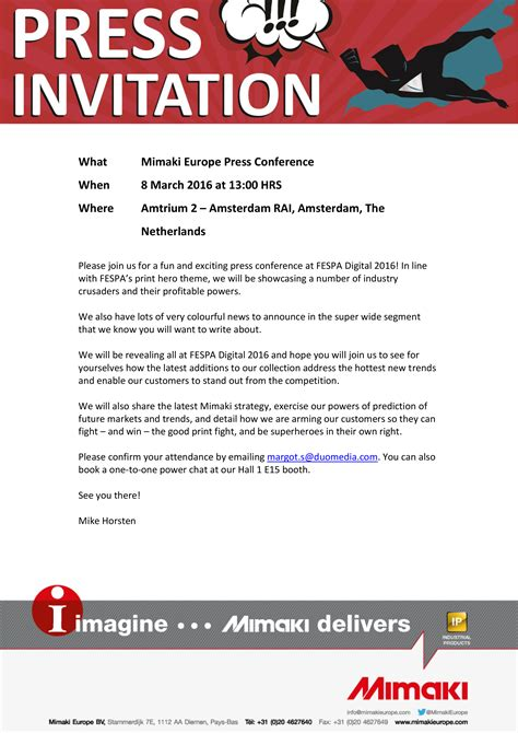 Invitation Letter Format For Media How To Write An Invitation Letter For Press Conference Cover Letter Templates