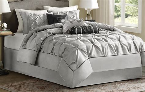grey bedding  matching curtains lux comfy bedding