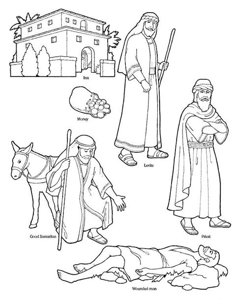 coloring page for good samaritan free coloring pages of the good samaritan