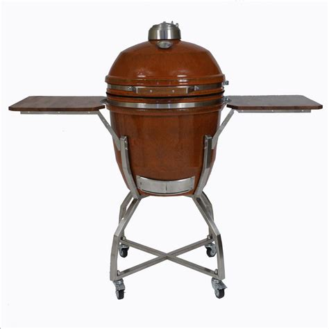 vision grills kamado professional ceramic charcoal grill in chili red with grill cover s cr4c1d1