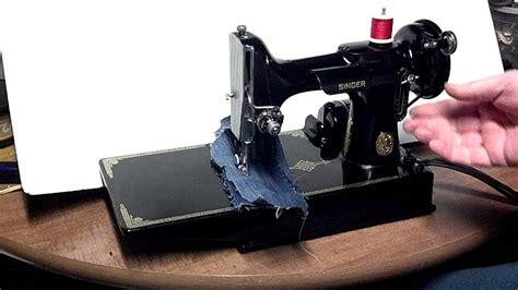 singer featherweight 221 vintage sewing machine 1950 shiny vintage 1950 singer 221 1 featherweight sewing