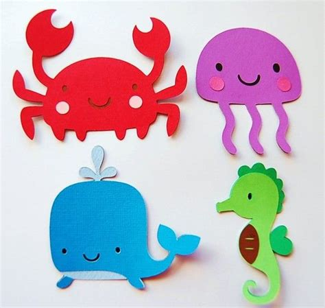 printable ocean animal cutouts cut outs under the sea party decorations pinterest
