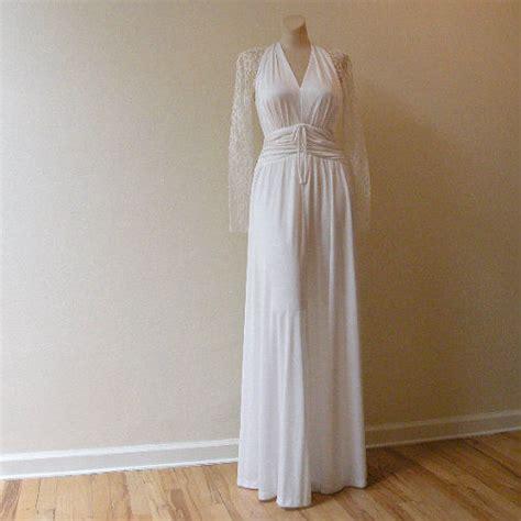 wedding dress outlet new jersey 80s lace jersey wedding dress 36b 28w pretty sweet vintage