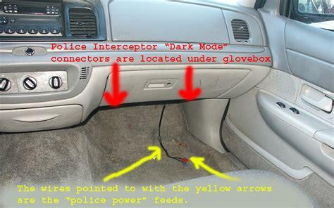 crown vic dash lights interceptor quot car quot option