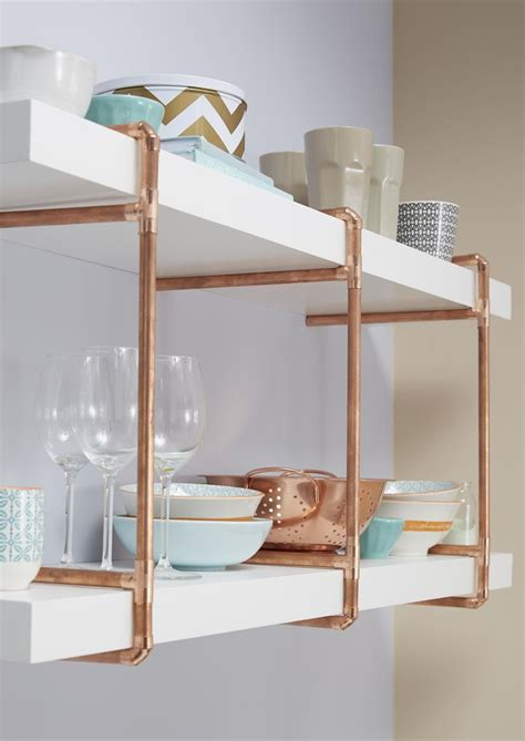 open shelving ideas copper pipe home ideas diy projects