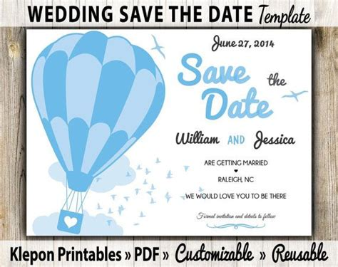 electronic save the date templates save the date wedding card air balloon theme digital