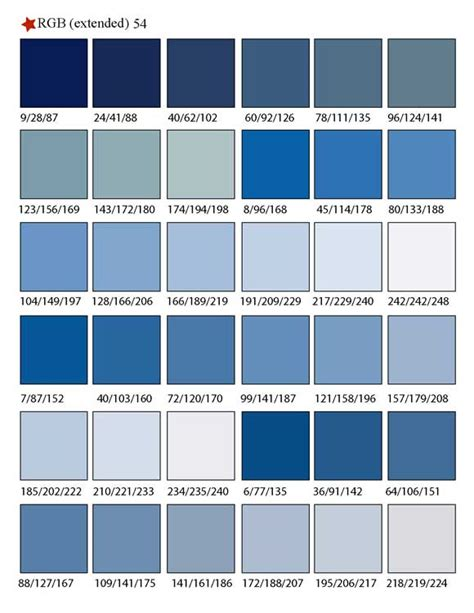 different color blues types of blue pictures to pin on pinsdaddy