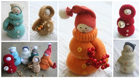 christmas decorations to make at home for free adorable diy snowman from mittens beesdiy com