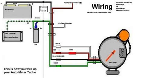 auto meter tachometer wiring diagram wiring diagram with