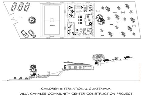 community center floor plan help fund community centers in villa canales guatemala
