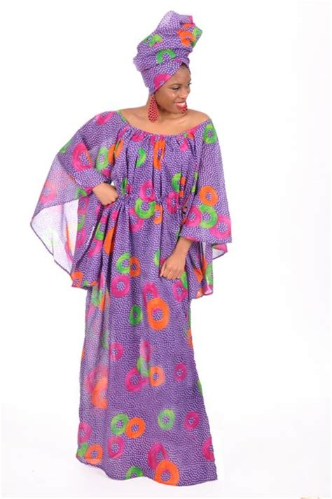 Senegalese African Dresses For Women | purple hand made blue senegalese dress for women dp3352