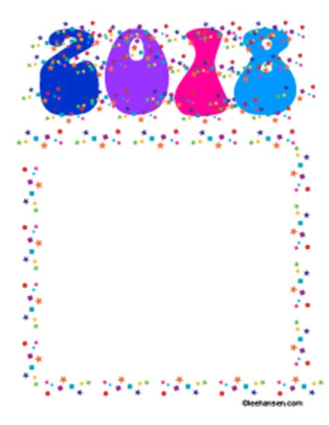 new year printable border new year confetti border paper