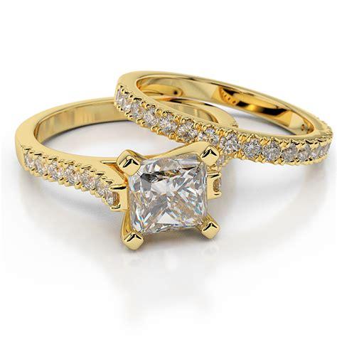 1 1 2 ct h si1 real engagement ring set princess