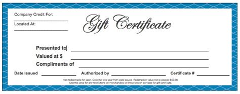 5 gift card template blank gift certificate templates wikidownload
