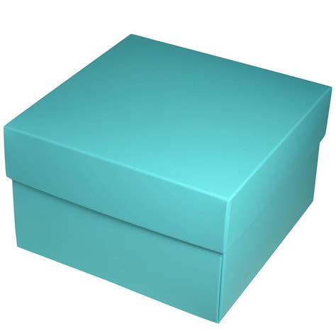 square large gift box matt blue