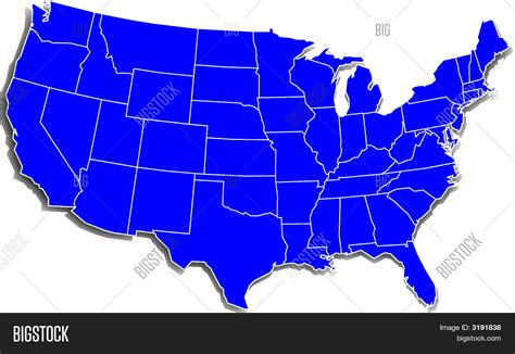simple united states map simple u s map image photo bigstock