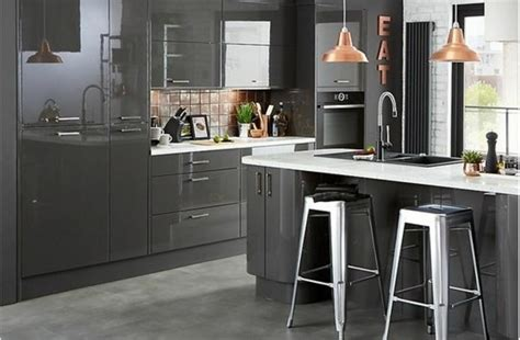 Kitchen Design B And Q | cuisine gris anthracite meubles cuisine couleur
