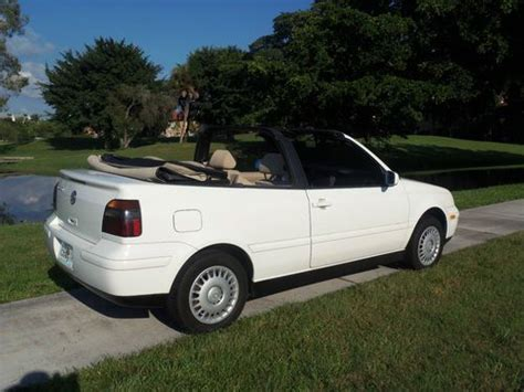 Volkswagen South Florida by Find Used 1999 Vw Cabrio Only 34k South Florida Car