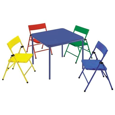 Childrens Folding Table And Chairs Ameriwood Cosco Collection Kid S 5 Folding Chair And Table Set 14325ryb